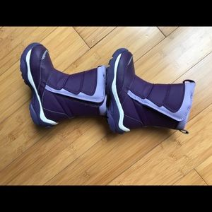 Girls Land's End purple winter boots size 9